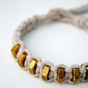 Square Knot Hexnut Bracelet