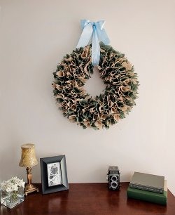 Square-Pinned Burlap Wreath