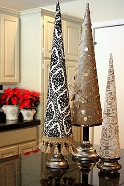 Fabric Poster Board Christmas Trees