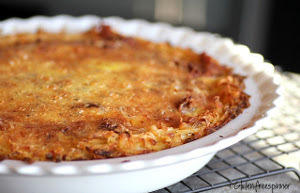 Hashbrown Crusted Egg Pie