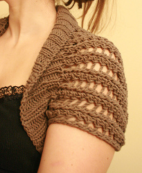 Ribbed Lace Bolero AllFreeKnitting.com