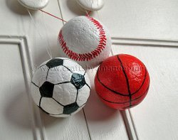 Sports Ball Party Ornaments