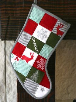 Patchwork Baby Christmas Stocking