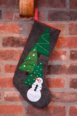 Cute Christmas Snowman Stocking