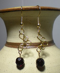 Loopy Wire Beaded Earrings