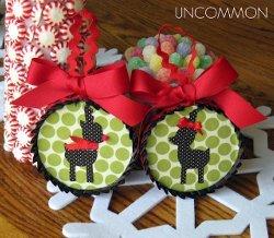 Reindeer Fabric Ornaments