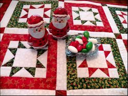 North Star Quilted Table Runner