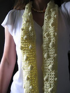 Yellow Polka Dots Summer Scarf