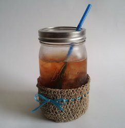 Hemp Mason Jar Cozy