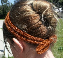 Sparkly Crochet Headband