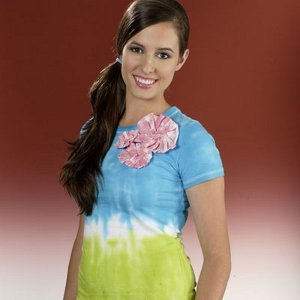 3D Tie Dye Flower Top