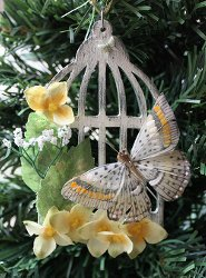 Vintage Bird Cage Ornament