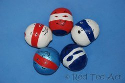 Fourth of July Juggling Balls