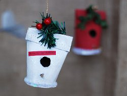 Christmas Birdhouse Ornament