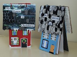 Christmas House Shaped Book