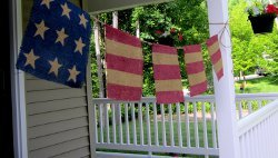 Burlap Stars and Stripes Bunting