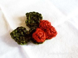 Crochet Holly Berry Pin