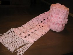 Pretty Pink Flower Scarf