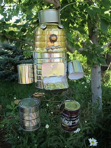 Recycled Tin Can Robots