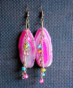 Summer Agate Dangle Earrings