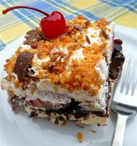 Frozen Banana Split Squares