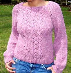 Lace Panel Sweater Allfreeknitting Com