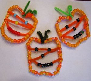 Beaded Jack O Lantern Ornaments