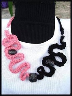 Curly Crochet Necklace