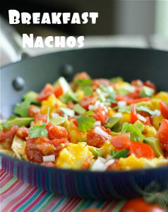 Cheesy Breakfast Nachos