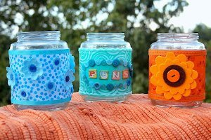 Embellished Art Supply Jars