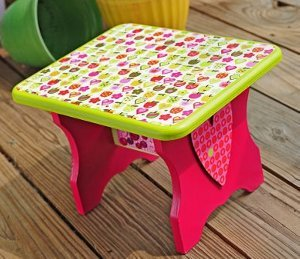 Pretty Pink Strawberry Stool