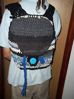 Upcycled Crochet Backpack