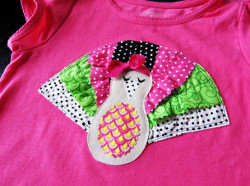Ruffled Turkey Tee for Girls