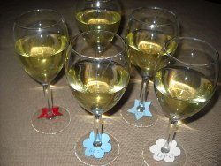 Patriotic Wine Glass Name Tags