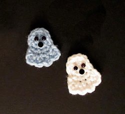 Crochet Ghost Applique