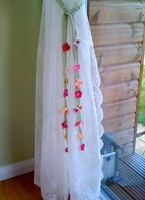 Floral Curtain Tie Backs