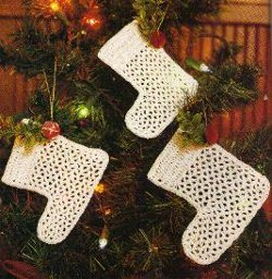 Mini Crochet Christmas Tree Stockings