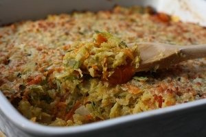 Garden-Fresh Vegetable and Rice Casserole