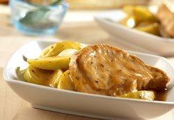 Slow Cooker Golden Mushroom Pork and Apples