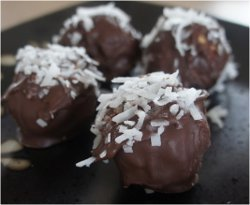 No-Bake Chocolate Coconut Peanut Butter Balls