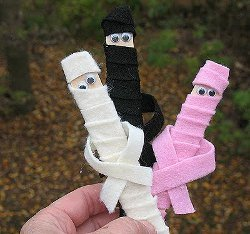 Popsicle Stick Mummies