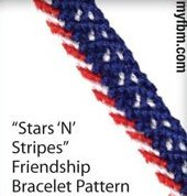 Stars and Stripes Friendship Bracelet Pattern