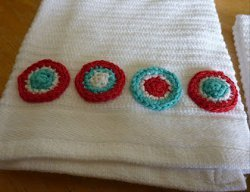 Multicolor Circle Bathroom Towel