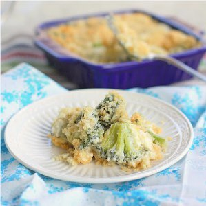 Broccoli Blue Cheese Bake
