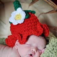 Crochet Strawberry Hat