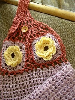 Crocheted Tea Towel