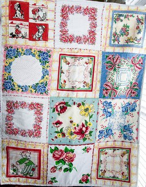 Vintage Hankie Quilt for Baby