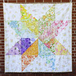 Giant Vintage Starflower Quilt