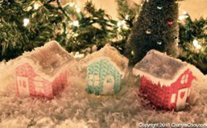 Crocheted Christmas Cottage