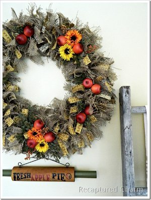 Apple Pie Wreath